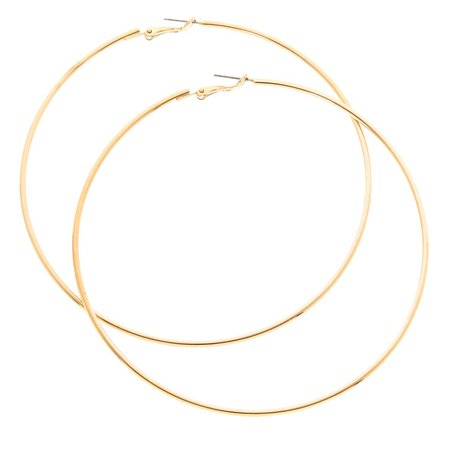 100MM Extra Large Gold Hoop Earrings | Claire's US