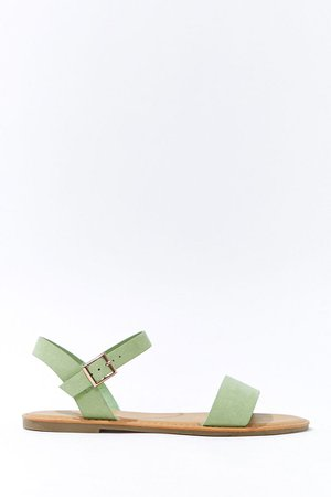Faux Suede Open-Toe Sandals | Forever 21