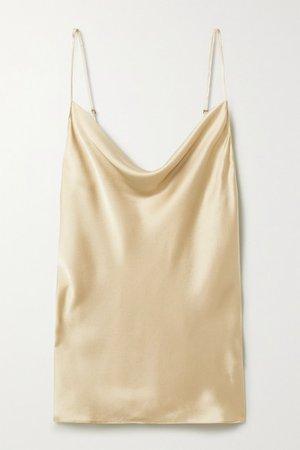 Nili Lotan | Gemma draped silk-satin camisole | NET-A-PORTER.COM