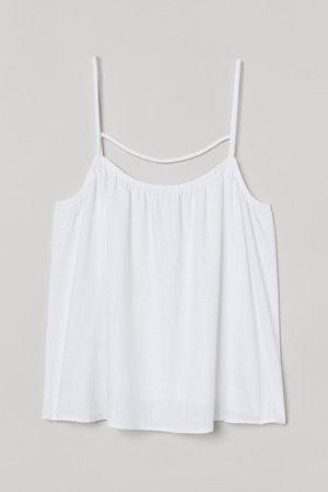 Camisole Top - White - Ladies | H&M US
