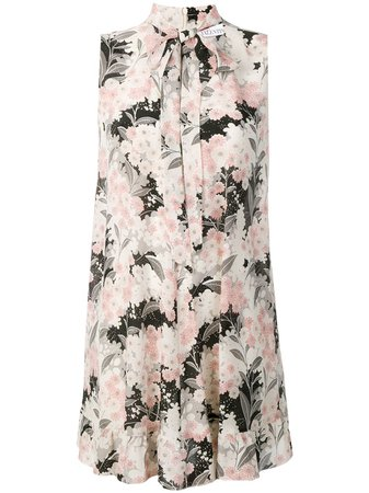 Shop pink RedValentino flower-print mini dress with Express Delivery - Farfetch