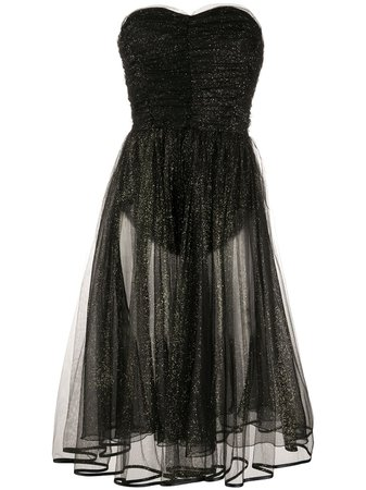 Elisabetta Franchi Sweetheart Neck Glitter Dress - Farfetch