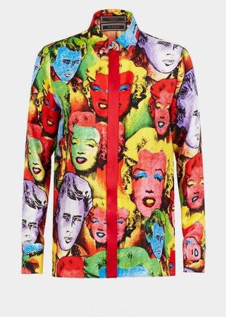 Pop Art SS'91 Print Tribute Shirt - Versace