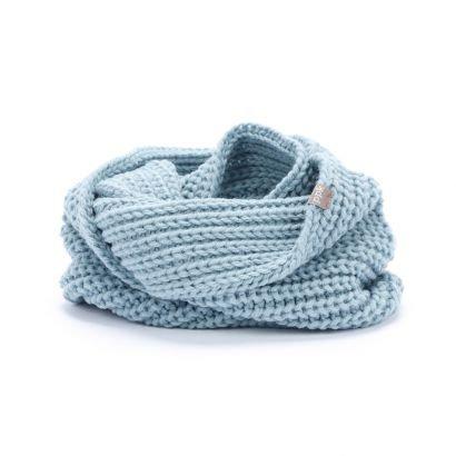 Chunky Rib Infinity Scarf - Blue