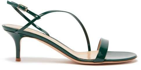 Manhattan 55 Patent Leather Sandals - Womens - Dark Green