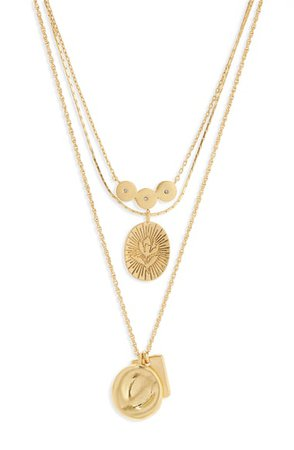 Madewell Flower Etched Necklace (Nordstrom Exclusive) | Nordstrom