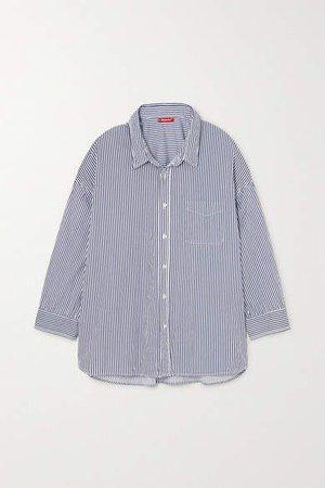 Denimist - Striped Cotton Shirt - Navy