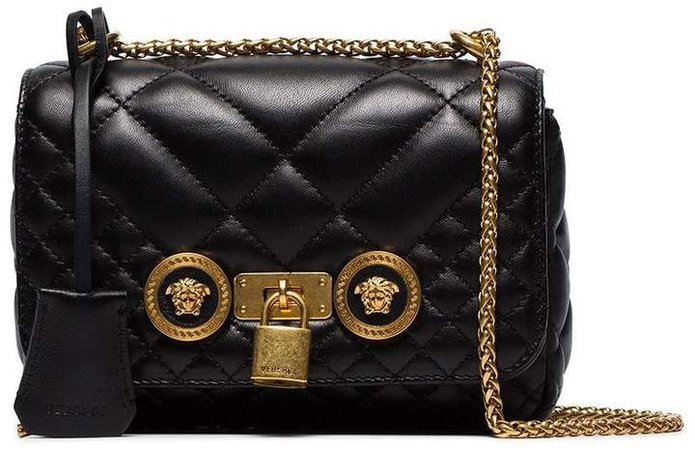 Black Small Quilted Leather Shoulder Bag