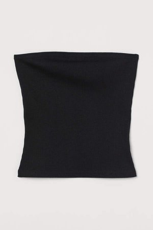 Ribbed Tube Top - Black