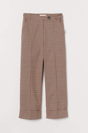 Straight Twill Pants - Beige