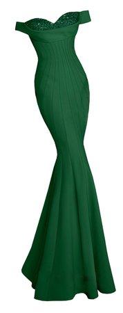 Dress long mermaid green
