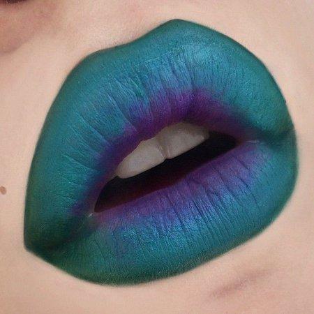 green blue purple lip - Google Search