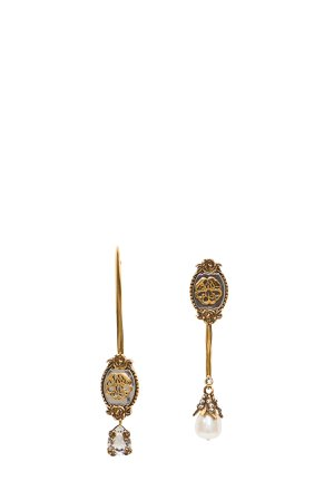 Alexander McQueen Assymetric Signature Earrings
