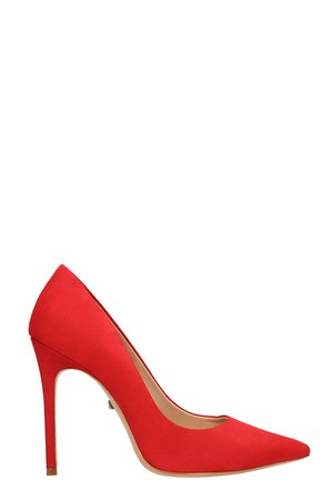 Schutz Red Suede Leather Pumps