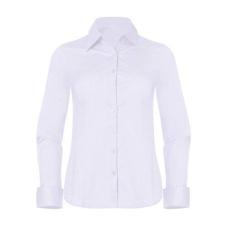 Pier 17 - Pier 17 Button Down Shirts for Women, Fitted Long Sleeve Tailored Shirt Blouse (Large, White) - Walmart.com - Walmart.com