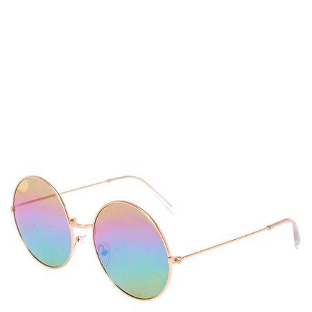 Rainbow circle sunglasses glasses icing