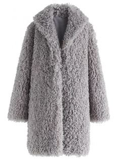 Feeling of Warmth Faux Fur Longline Coat in Grey - OUTERS - Retro, Indie and Unique Fashion