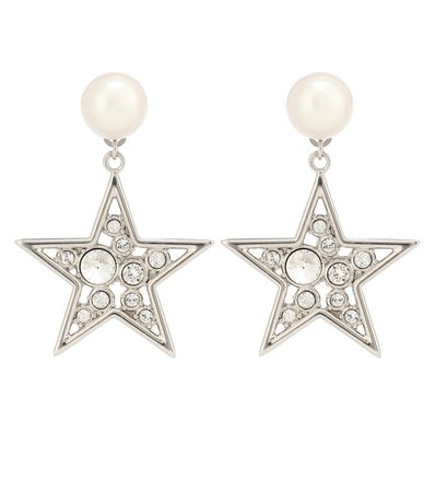 Crystal-Embellished Earrings | Miu Miu - Mytheresa