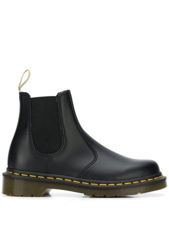 Black Dr. Martens Pull-On Ankle Boots | Farfetch.com