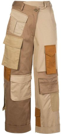 cargo-pockets cropped trousers