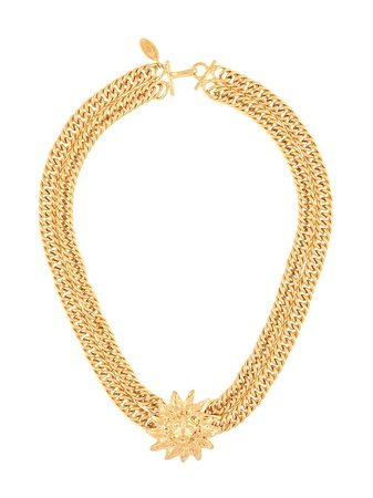 Chanel Pre-Owned lion motif chain necklace gold NCCIRCLEC - Farfetch