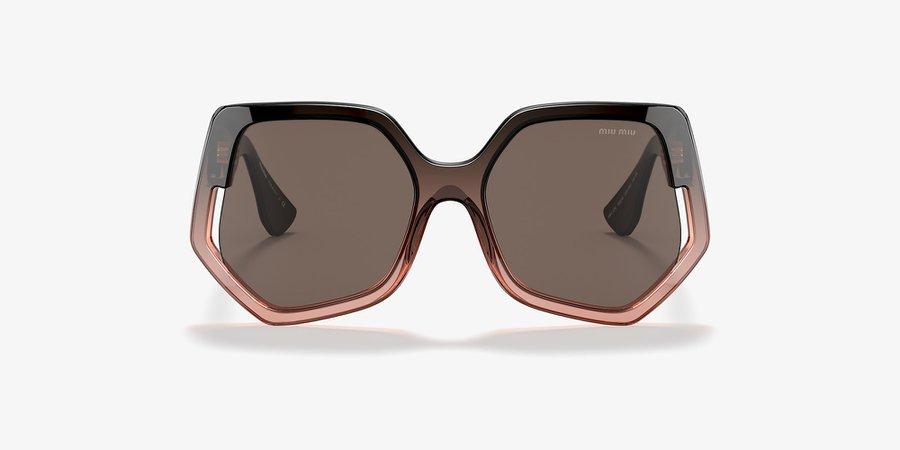 Miu Miu MU 07VS Brown Gradient & Brown Sunglasses | Sunglass Hut USA