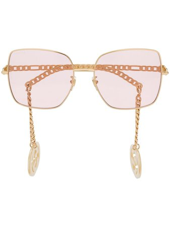 Gucci Eyewear detachable-charm square-frame Sunglasses - Farfetch