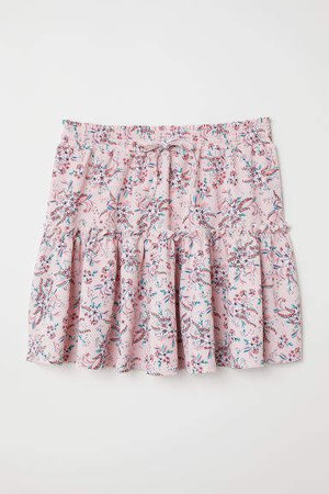 Patterned Jersey Skirt - Pink