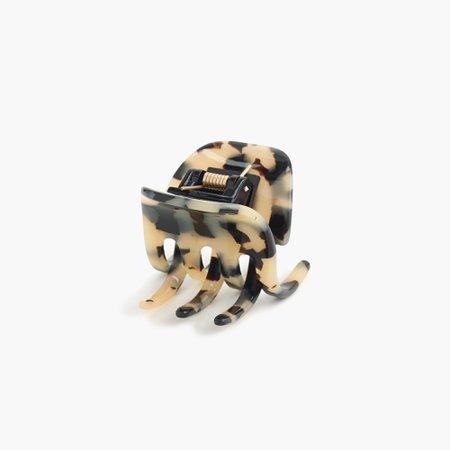 J.Crew: Classic Hair Clip In Italian Tortoise