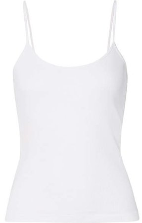 Ninety Percent - Ribbed Organic Cotton-jersey Camisole - White