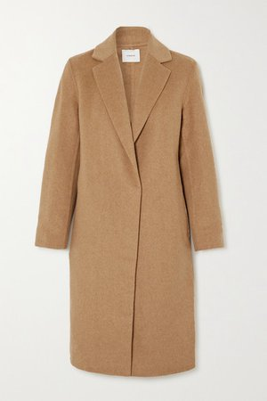 Classic Wool-blend Coat - Tan