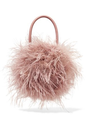 Loeffler Randall | Zadie feather and leather tote | NET-A-PORTER.COM