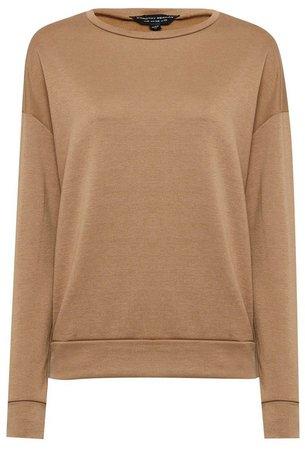 Camel Oversized Sweatshirt