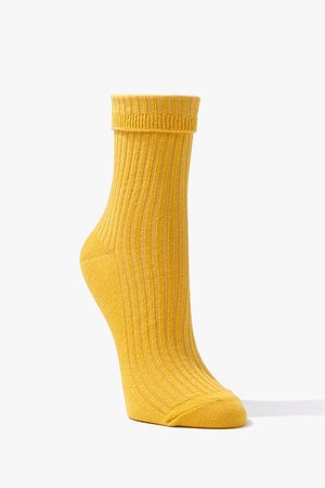 Ribbed Knit Crew Socks | Forever 21