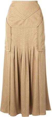 Varsha tucked skirt