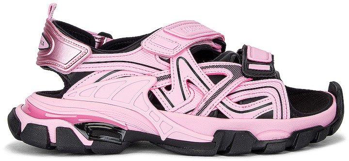 Strap Sandals in Pink & Black | FWRD