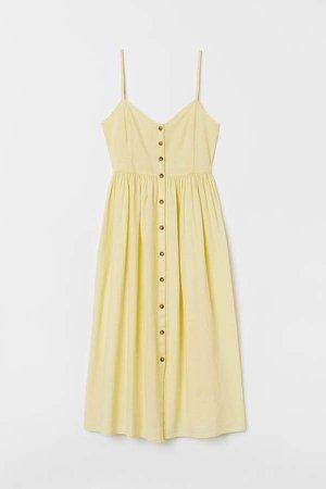 Linen-blend Dress - Yellow