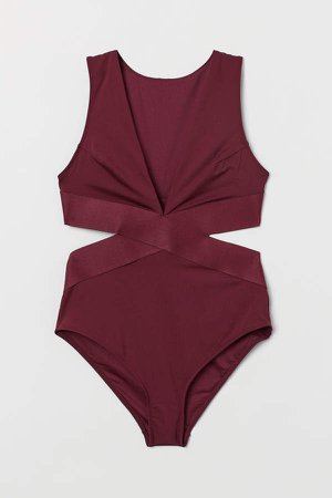 Cut-out Swimsuit - Red