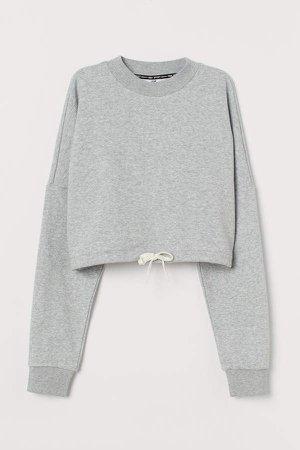 Cropped Sports Top - Gray