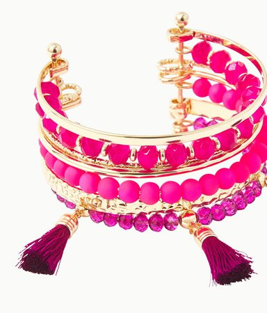 Island Jungle Bracelet in Berry Soiree | Lilly Pulitzer