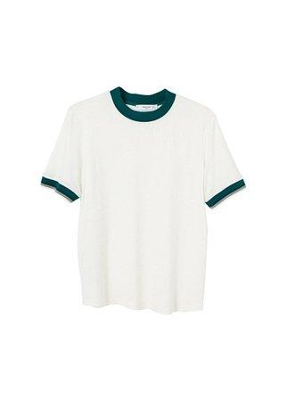 MANGO Contrast edge t-shirt