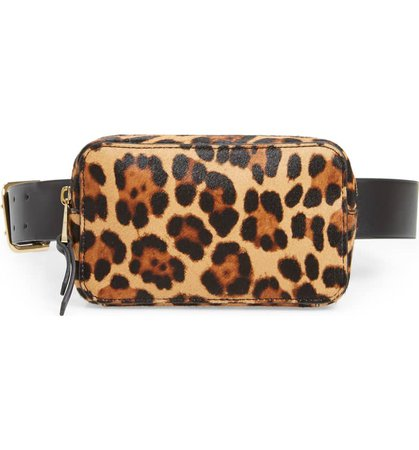 J.Crew Harper Genuine Calf Hair & Leather Fanny Pack | Nordstrom