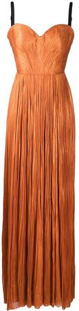 Rayna pleated silk gown