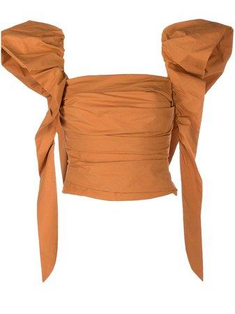 Pinko ruffle-sleeve Blouse - Farfetch