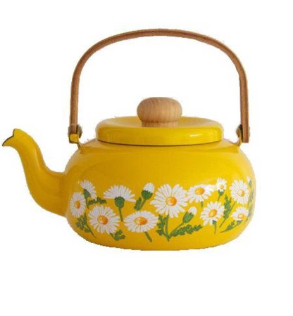 yellow sunflower tea pot