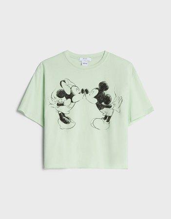 Cropped Mickey Mouse T-shirt - New - Bershka United States
