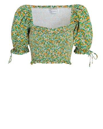 FAITHFULL THE BRAND Lisanza Floral Crop Top | INTERMIX®