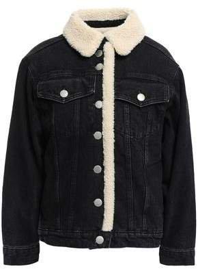 Balta Faux Shearling-trimmed Denim Jacket