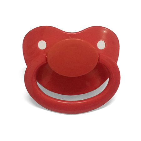 red adult paci