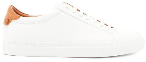 Urban Street Low-top Leather Trainers - Womens - Tan White